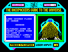 Backpackers Guide to the Universe ZX Spectrum 27