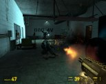 Firefight in a dingy warehouse.