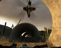 This Half-Life 2 helicopter chase is something of an epic.