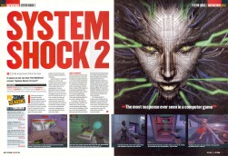 The opening double page spread of my System Shock 2 review.