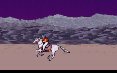 The animation of the horse is terrific. As you would expect with rotoscoped graphics.