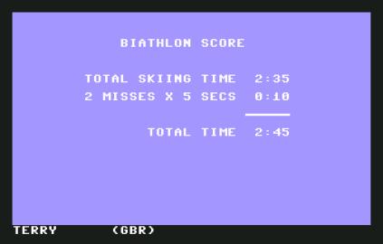 Winter Games C64 09