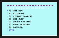 Winter Games C64 18