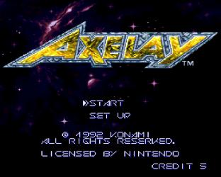 Axelay SNES 01