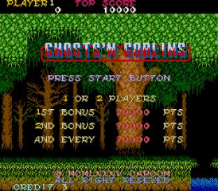 Ghosts N Goblins Arcade 01