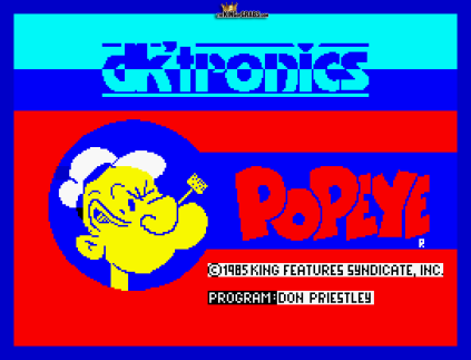 Popeye ZX Spectrum 01