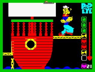 Popeye ZX Spectrum 11