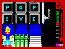 Popeye ZX Spectrum 25