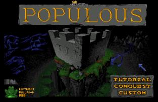 Populous (1989) Amiga 01