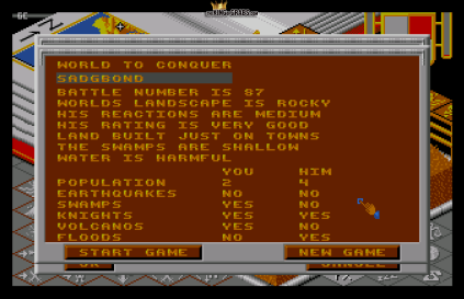 Populous (1989) Amiga 23