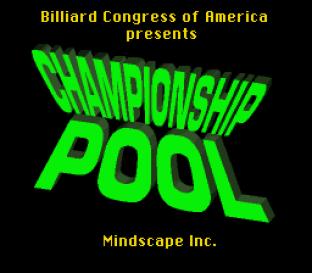 Championship Pool SNES 01