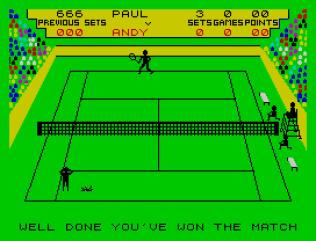 Match Point ZX Spectrum 18