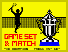 Match Point ZX Spectrum 19