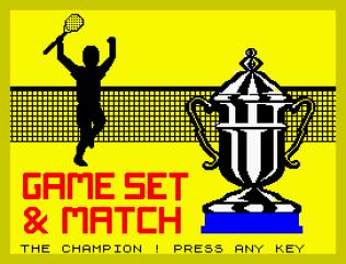 Match Point ZX Spectrum 19
