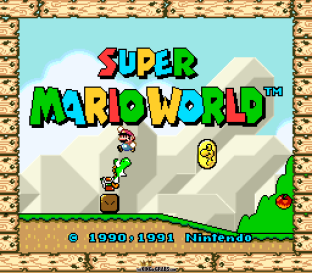 Super Mario World SNES 001