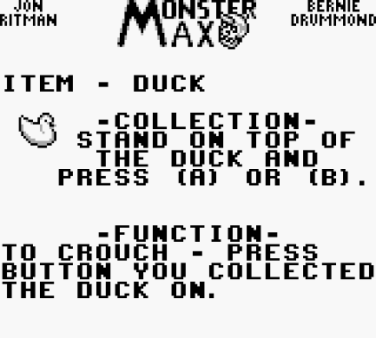Monster Max Game Boy 12