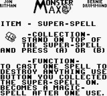 Monster Max Game Boy 16