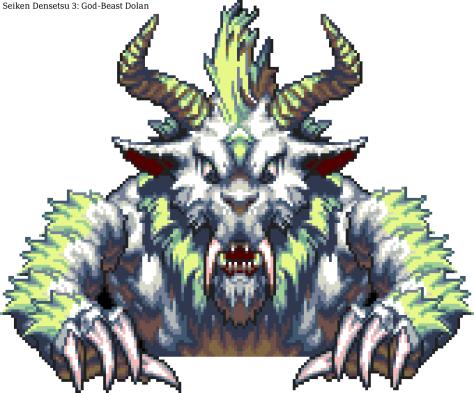 Seiken Densetsu 3 Bosses 15 - God-Beast Dolan (Moon)