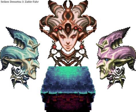 Seiken Densetsu 3 Bosses 17 - God-Beast Zable-Fahr (Darkness)
