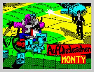 Auf Wiedersehen Monty ZX Spectrum 01
