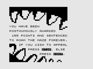 3D Monster Maze ZX81 21