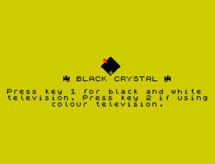 Black Crystal ZX Spectrum 01