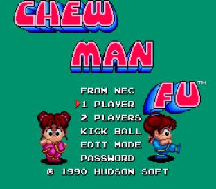 Chew Man Fu PC Engine 01