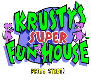 Krusty's Super Fun House SNES 01