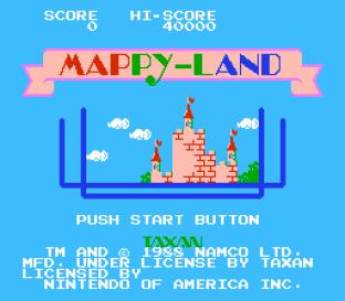 Mappy-Land NES 01