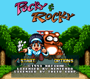Pocky and Rocky SNES 01