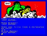 Questprobe 1 - The Hulk ZX Spectrum 06