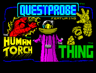 Questprobe 3 - Human Torch and The Thing ZX Spectrum 01