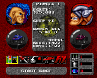 Rock N Roll Racing SNES 12