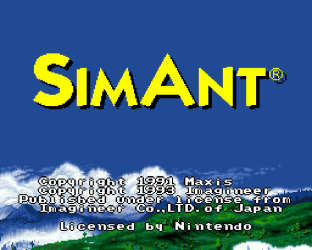 Sim Ant SNES 01