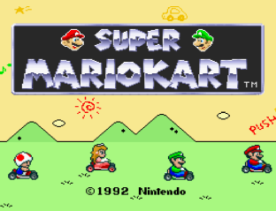 Super Mario Kart SNES 01