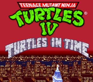 Turtles IV - Turtles In Time SNES 01