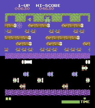 Frogger Arcade C64 05