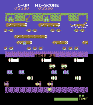 Frogger Arcade C64 13