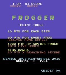 Frogger Arcade C64 18