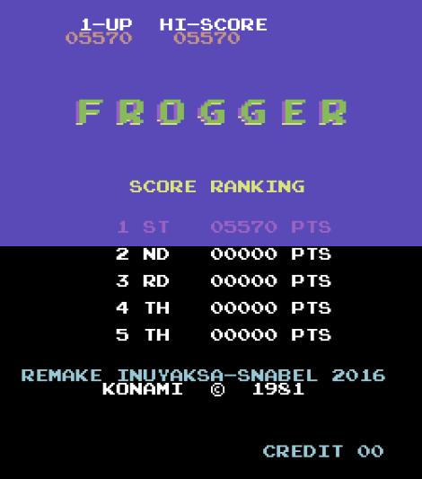 Frogger Arcade C64 19