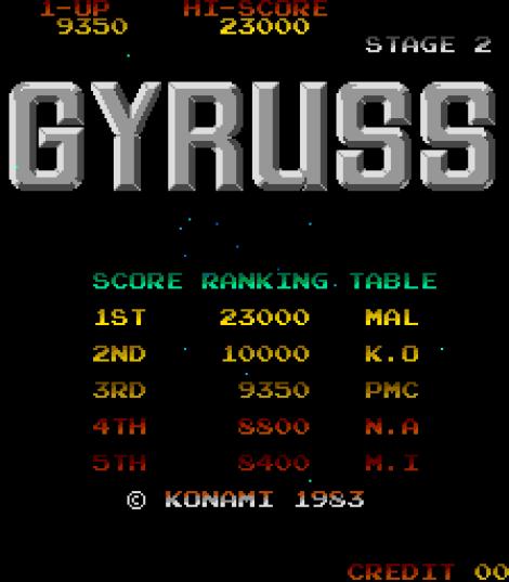 Gyruss Arcade 28