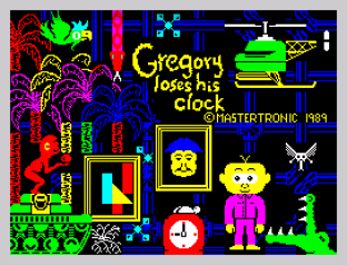Gregory Loses His Clock ZX Spectrum 01