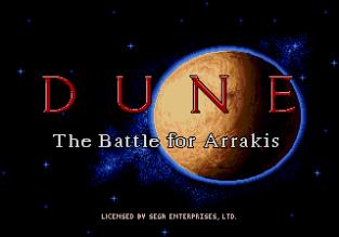 Dune - The Battle for Arrakis Megadrive 01