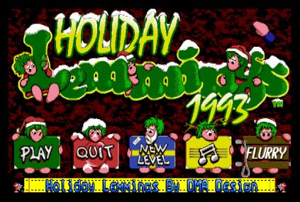 Holiday Lemmings 1993 Amiga 01