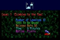 Holiday Lemmings 1993 Amiga 02