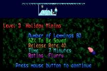 Holiday Lemmings 1993 Amiga 08