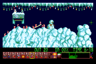 Holiday Lemmings 1993 Amiga 09