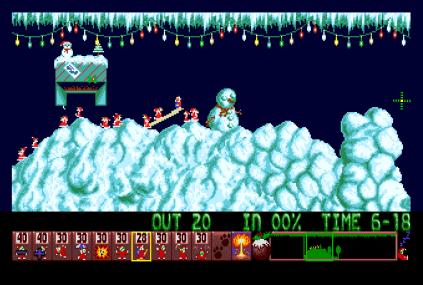 Holiday Lemmings 1993 Amiga 09