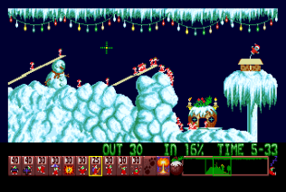 Holiday Lemmings 1993 Amiga 10
