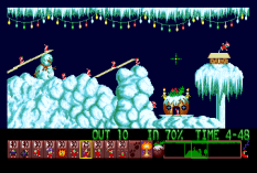 Holiday Lemmings 1993 Amiga 11